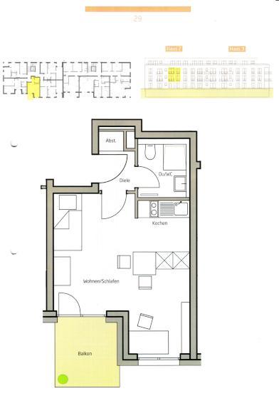ruhige einzimmerwohnung im erstbezug 1 zimmer wohnung in. Black Bedroom Furniture Sets. Home Design Ideas