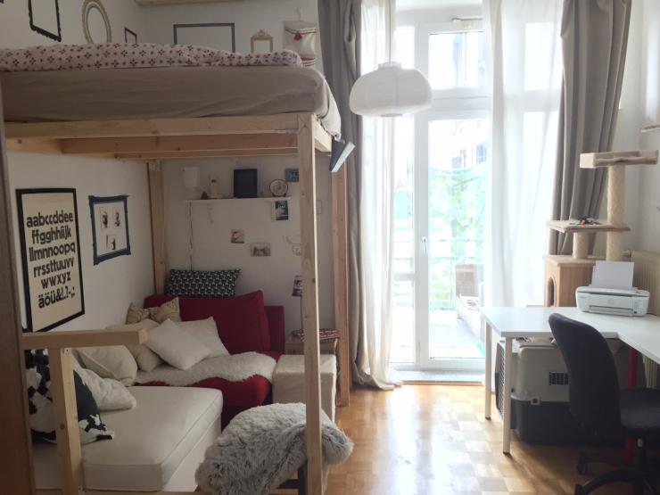 1 zimmerwohnung mit k che und balkon in bornheim 1. Black Bedroom Furniture Sets. Home Design Ideas
