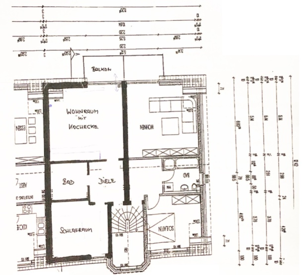 sehr sch ne m blierte 2 zimmer dachgeschoss wohnung in essen borbeck wohnung in essen borbeck. Black Bedroom Furniture Sets. Home Design Ideas